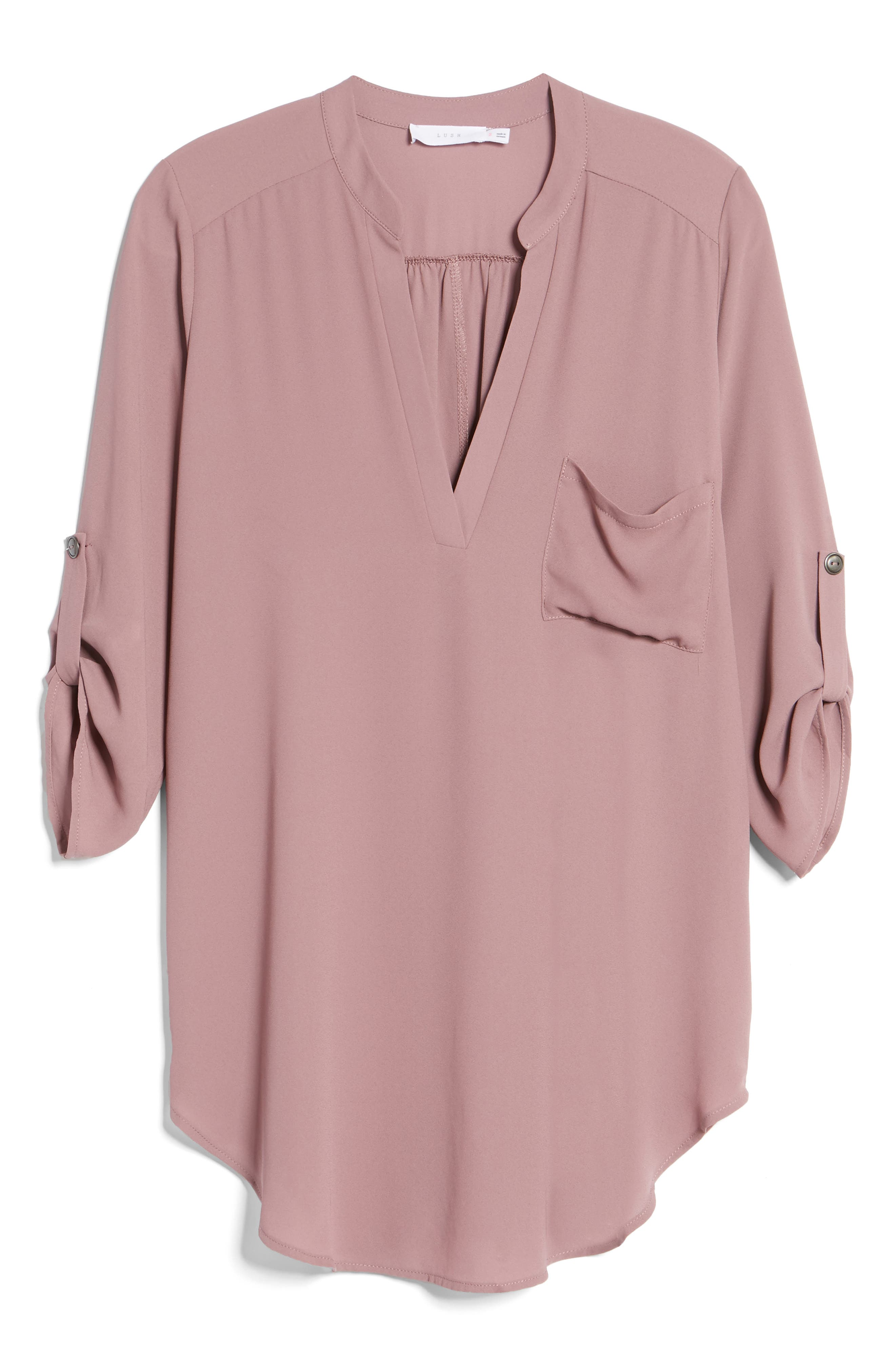 ,                             Perfect Roll Tab Sleeve Tunic,                             Alternate thumbnail 125, color,                             520