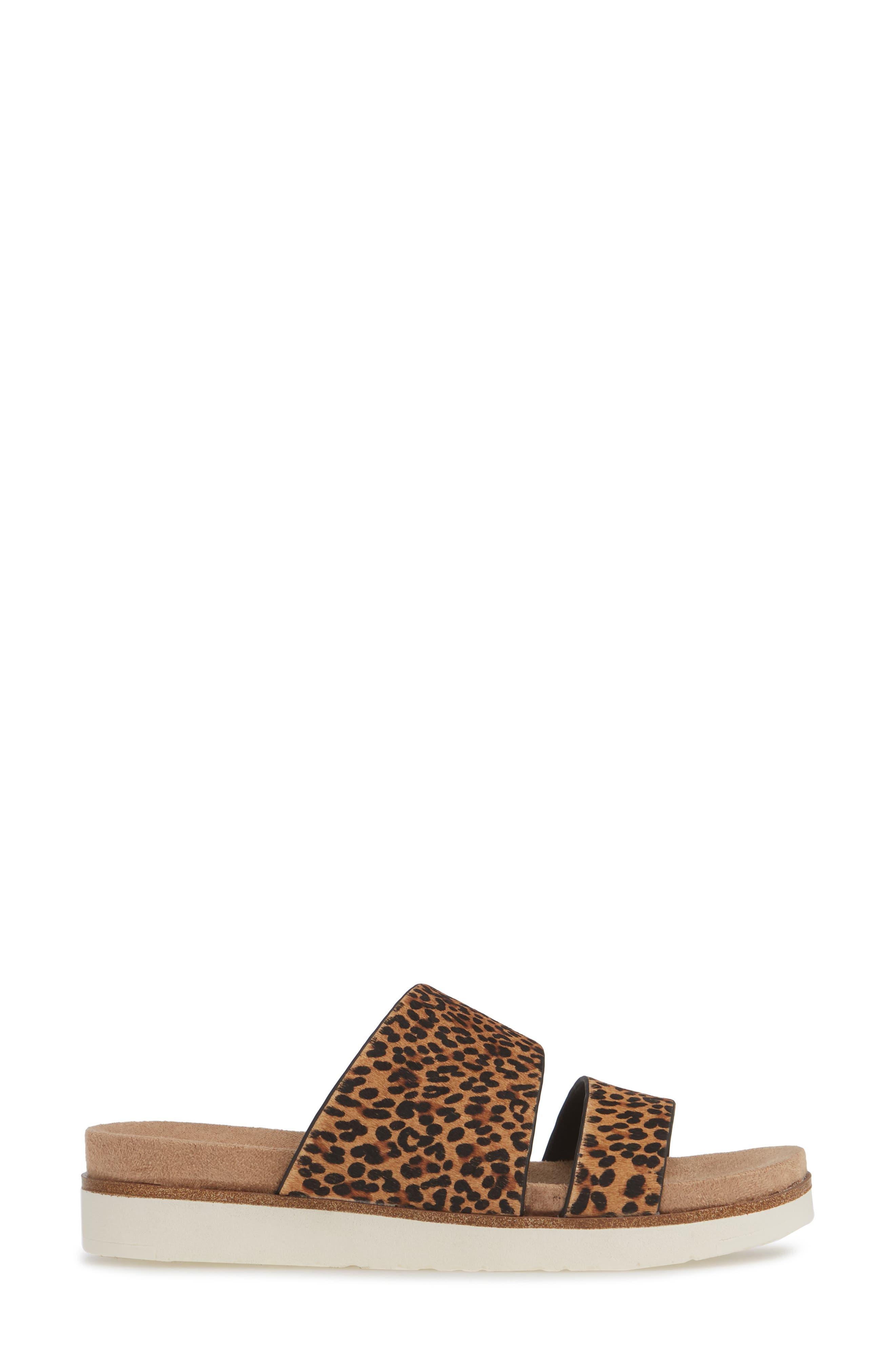 ,                             Danesha Genuine Calf Hair Slide Sandal,                             Alternate thumbnail 4, color,                             LEOPARD PRINT CALF HAIR
