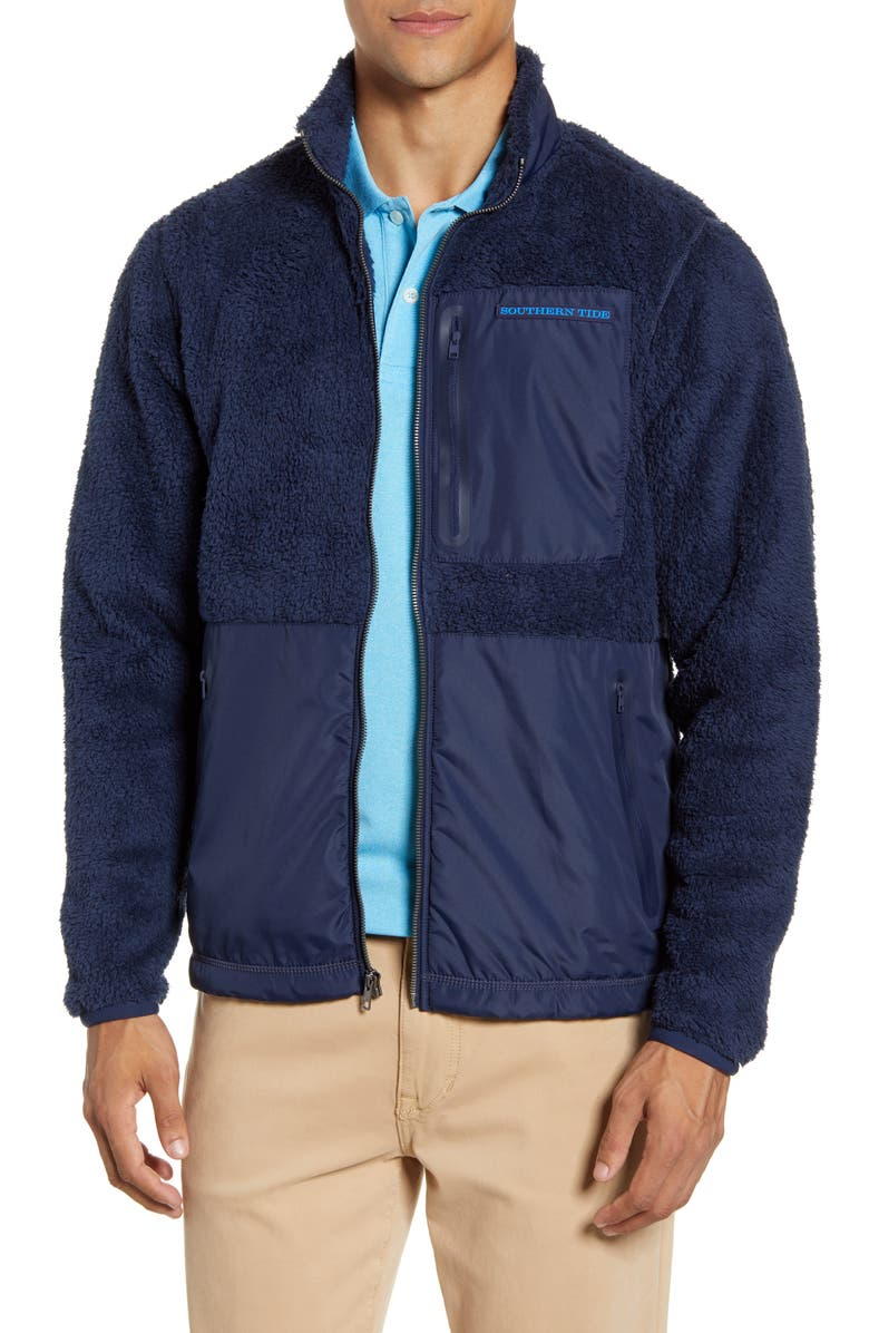 SOUTHERN TIDE Fleece Jacket, Main, color, 408