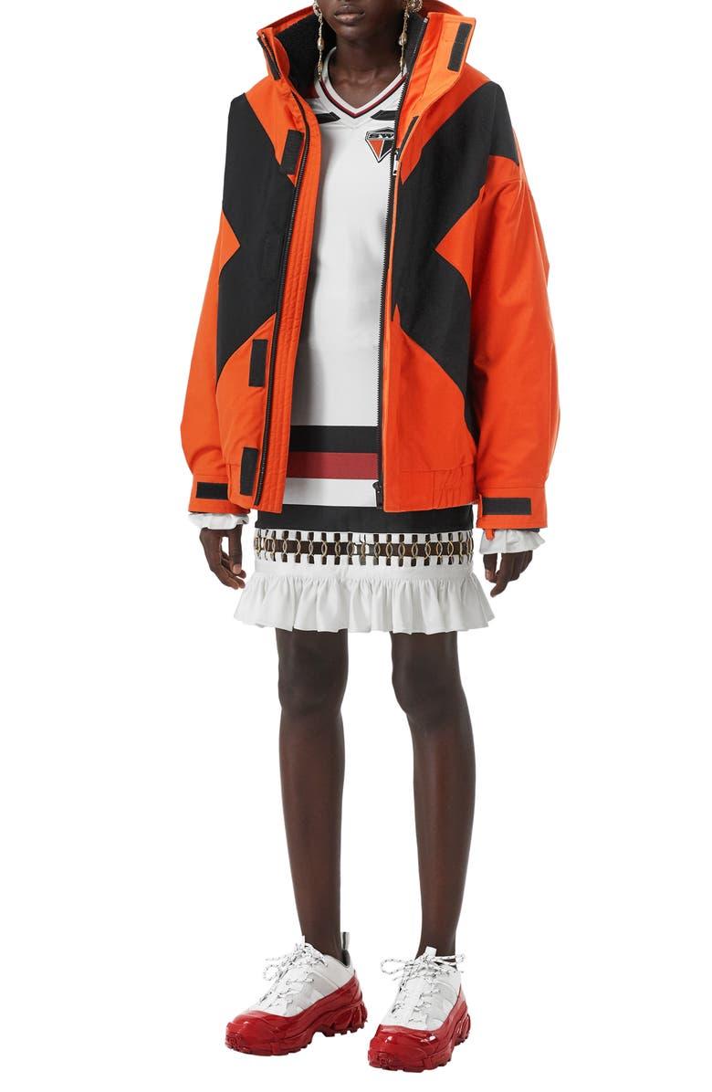 BURBERRY Fleece Lined Jacket, Main, color, BRIGHT ORANGE