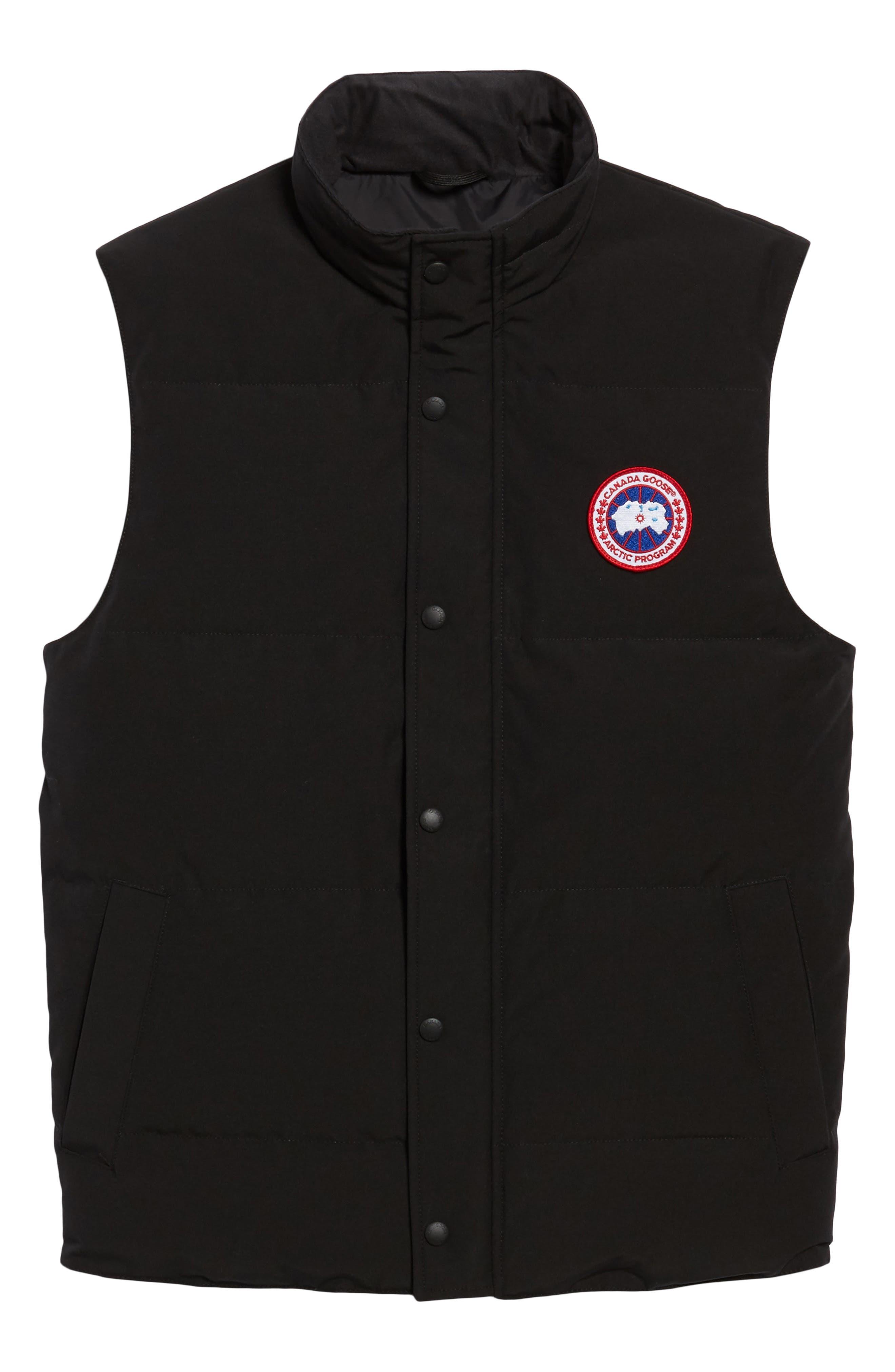 ,                             Garson Regular Fit Quilted Down Vest,                             Alternate thumbnail 7, color,                             BLACK