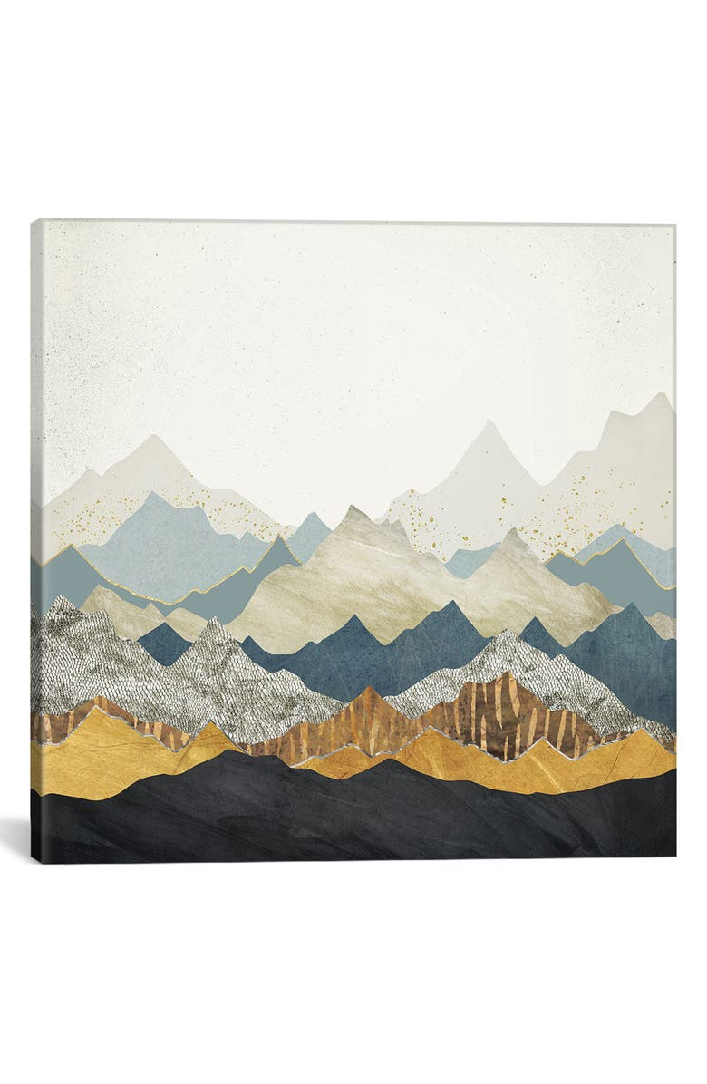 ICANVAS Distant Peaks by Spacefrog Design Giclée Print Canvas Art, Main, color, IVORY