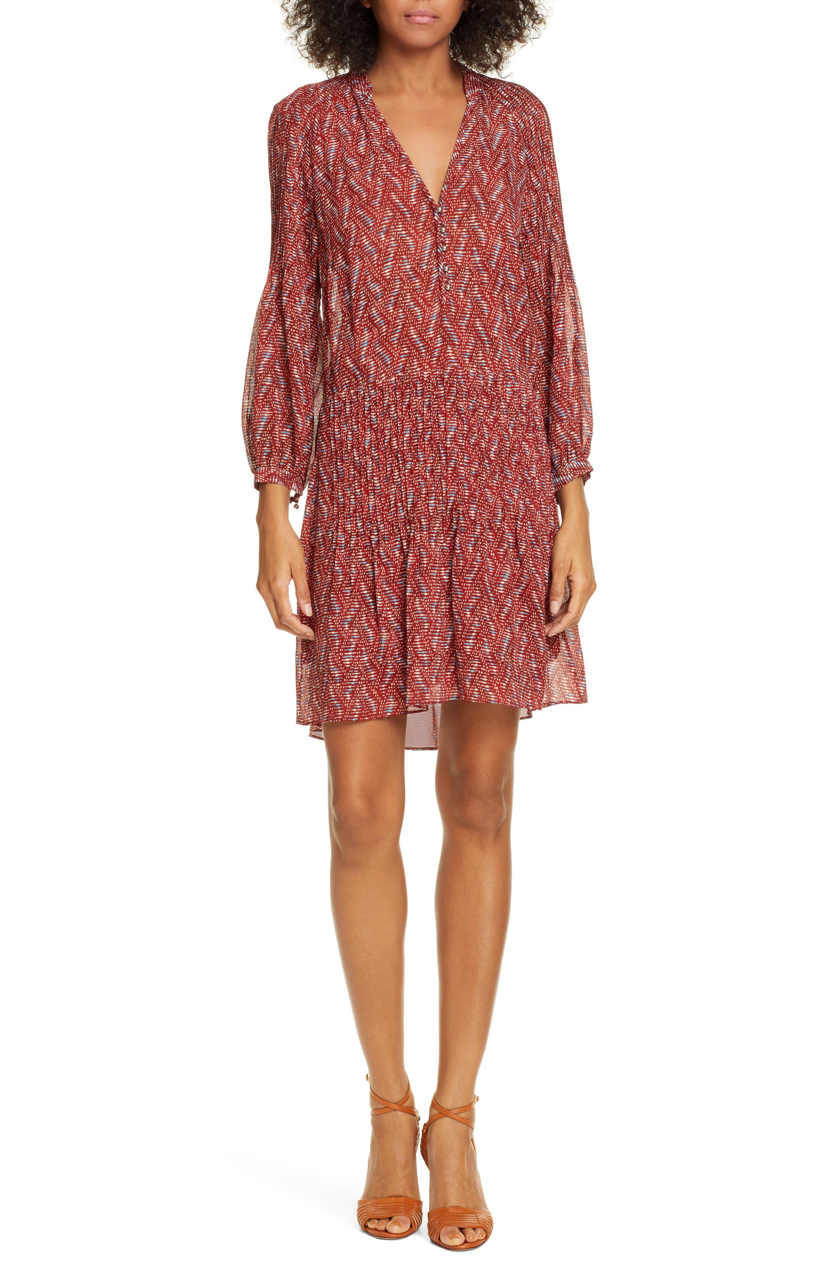 Veronica Beard Priya Print Dress, Red
