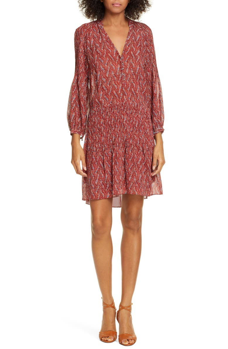 VERONICA BEARD Priya Print Dress, Main, color, 623