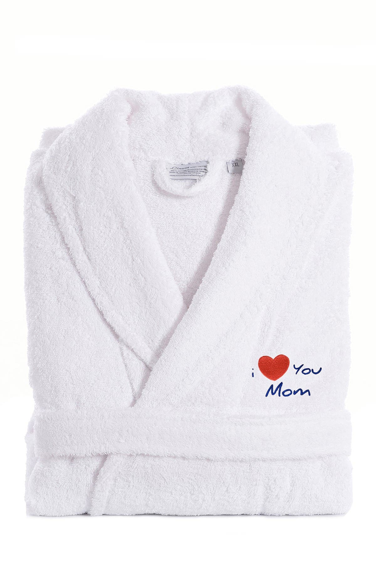 Image of LINUM HOME Terry Embroidered Bathrobe