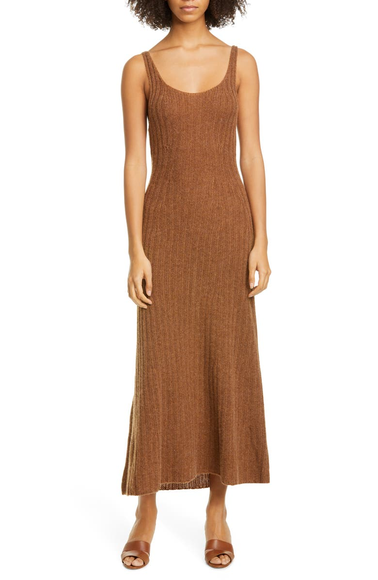KHAITE Beryl Cashmere Maxi Tank Dress, Main, color, MOCHA