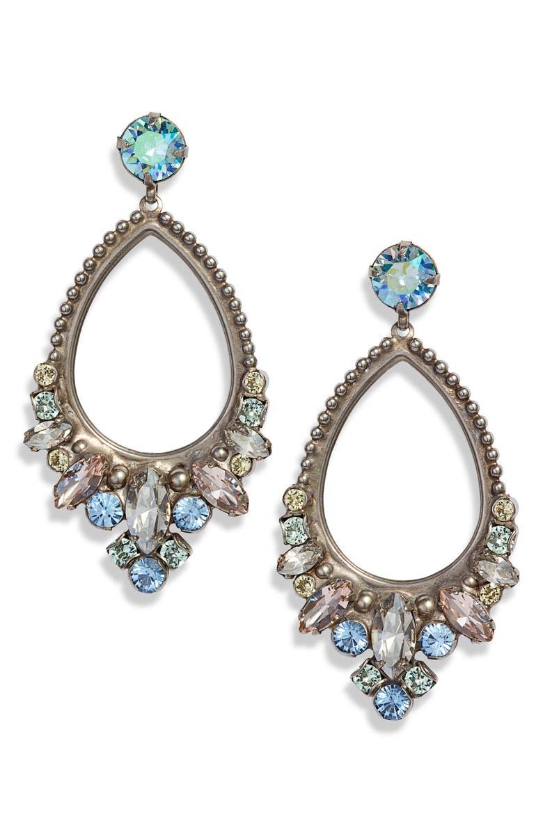 SORRELLI Noveau Navette Earrings, Main, color, BLUE