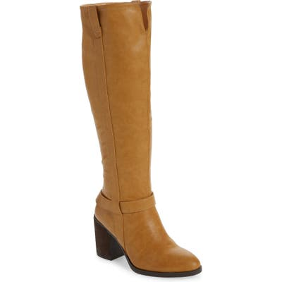 Mia Hamilton Block Heel Boot, Brown
