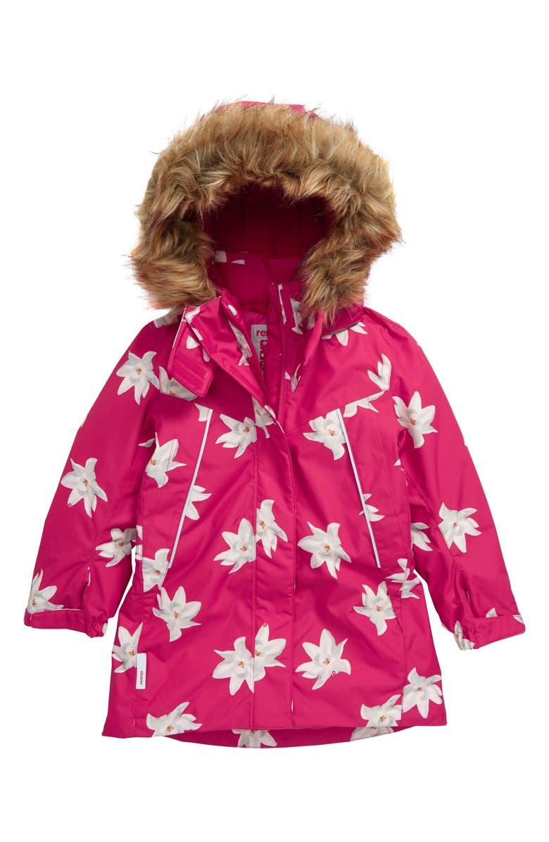 REIMA Muhvi Reimatec<sup>®</sup> Waterproof & Windproof Jacket, Main, color, PINK