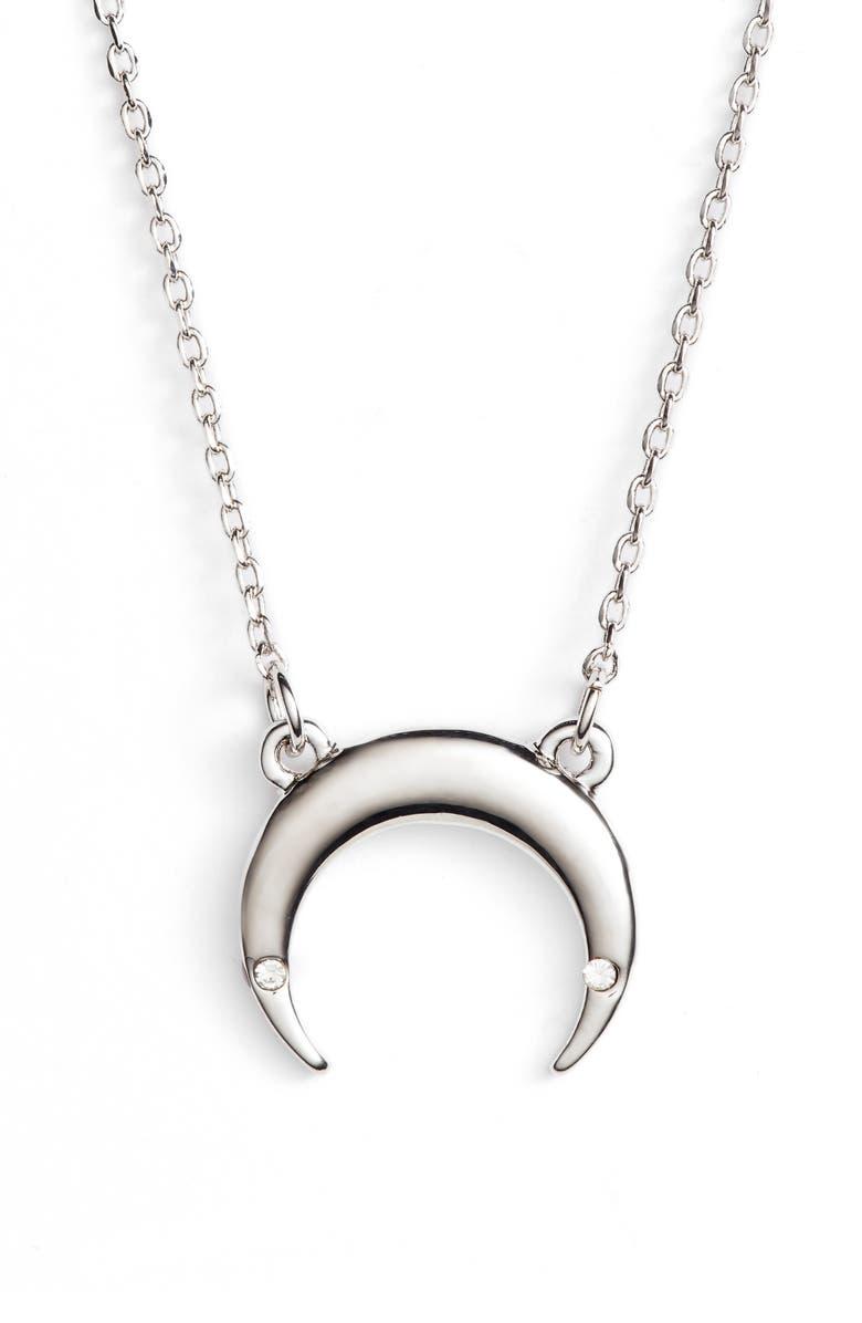 UNCOMMON JAMES BY KRISTIN CAVALLARI Crescent Necklace, Main, color, 040