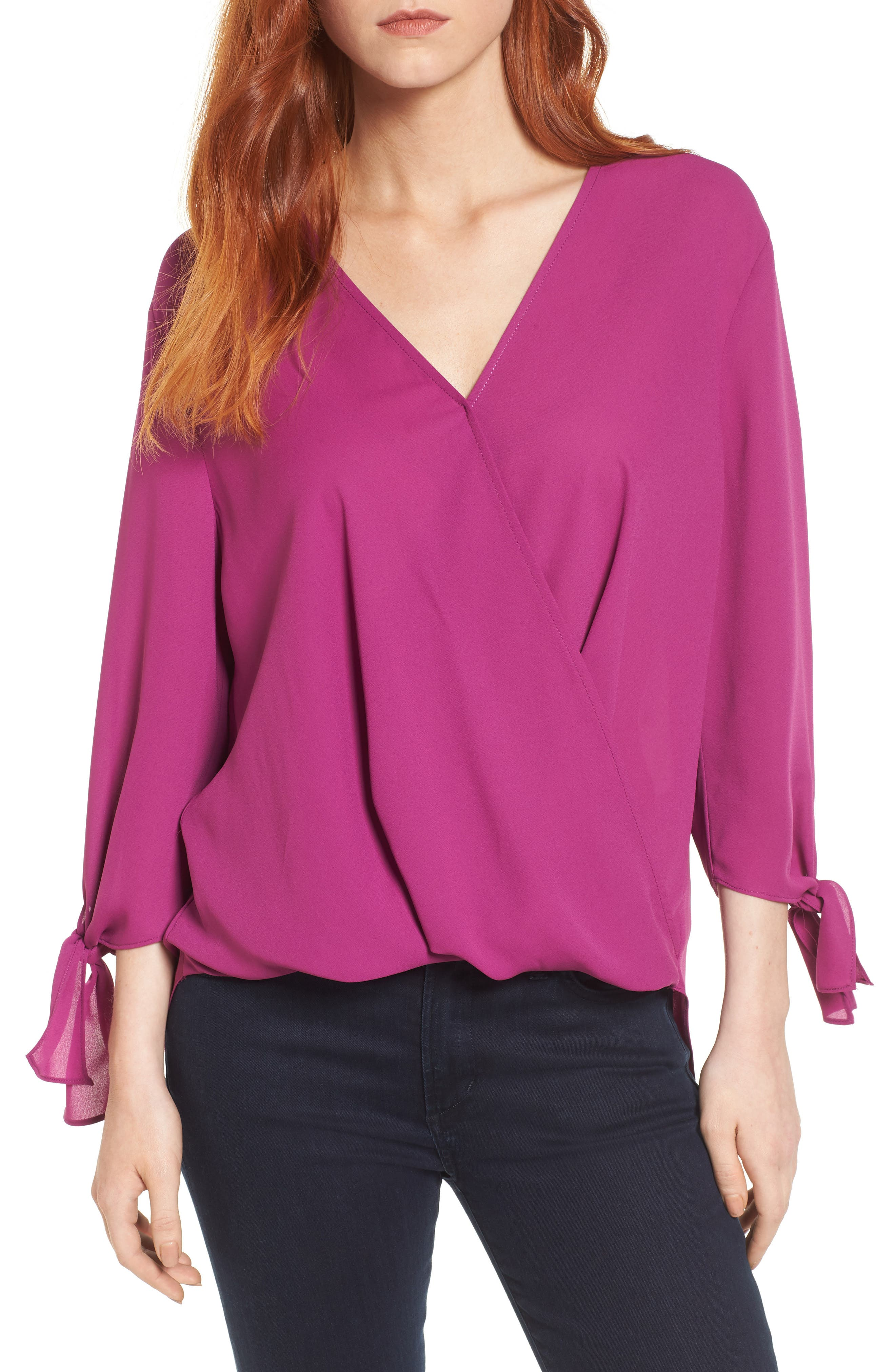 ,                             Surplice Neck Top,                             Main thumbnail 25, color,                             503