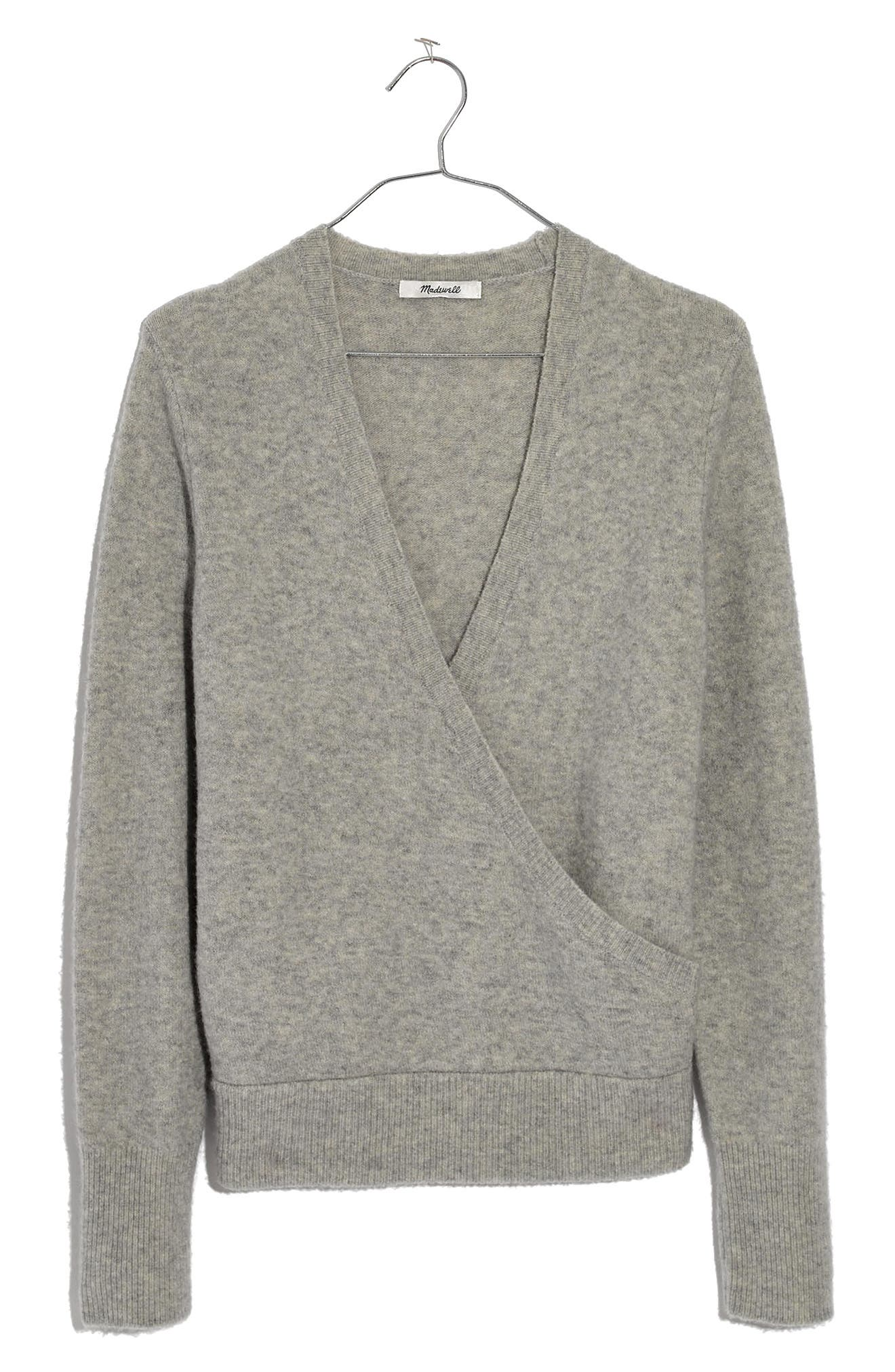 Image of Madewell Faux Wrap Pullover Sweater