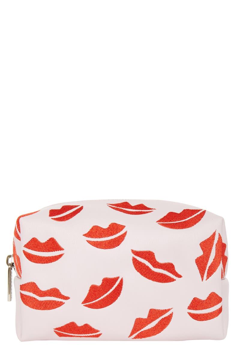 SKINNYDIP Pink Lips Makeup Bag, Main, color, NO COLOR