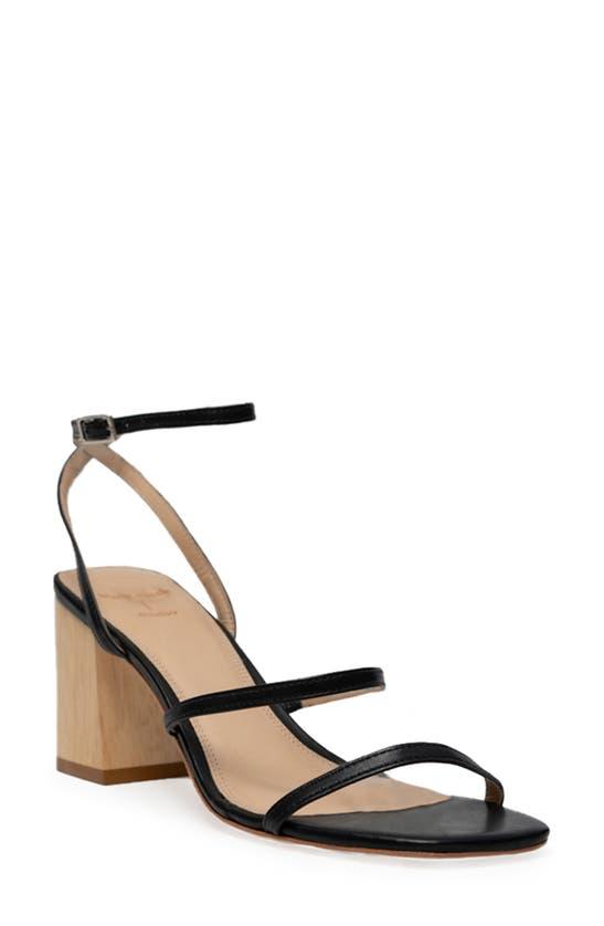 Black Suede Studio Sandals VERANA ANKLE STRAP SANDAL