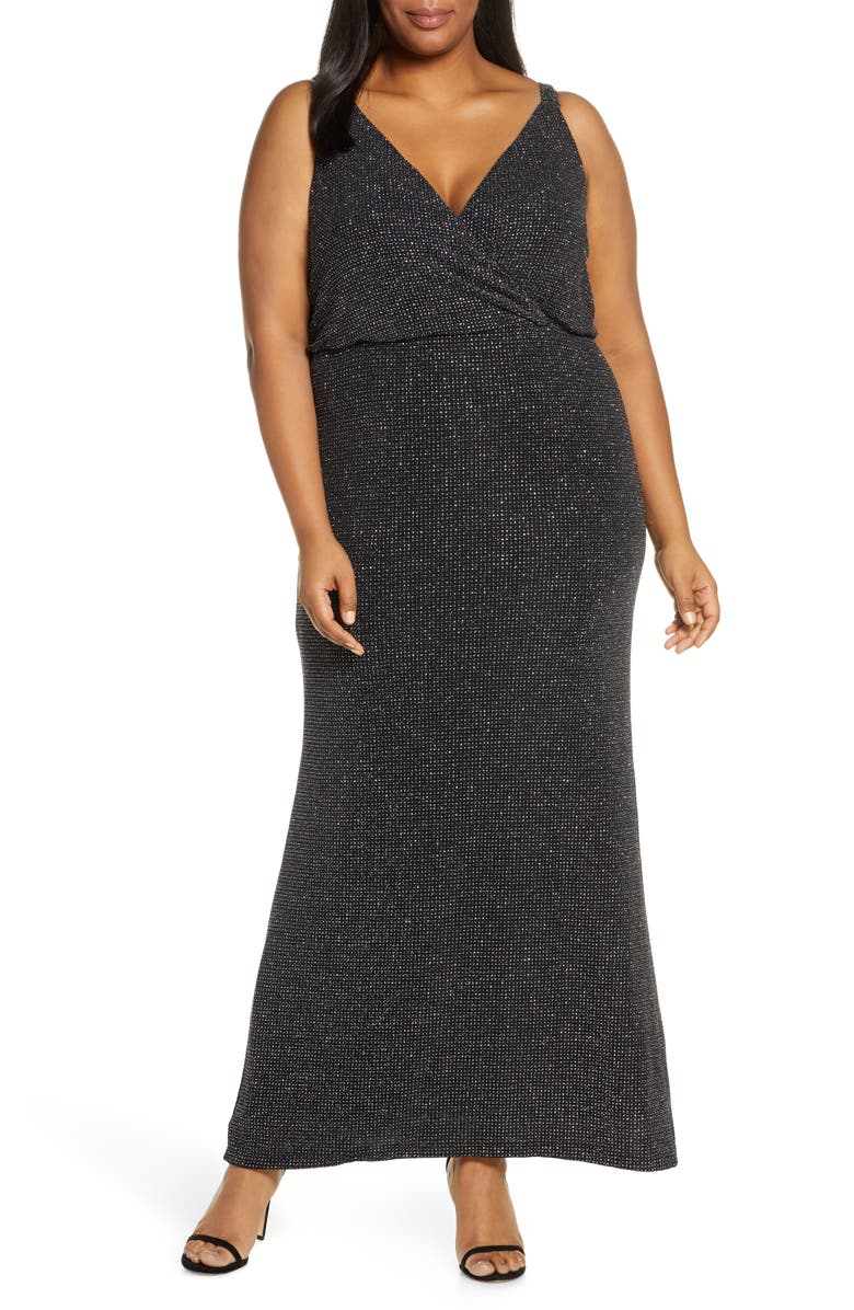 VINCE CAMUTO Blouson Gown, Main, color, MULBERRY