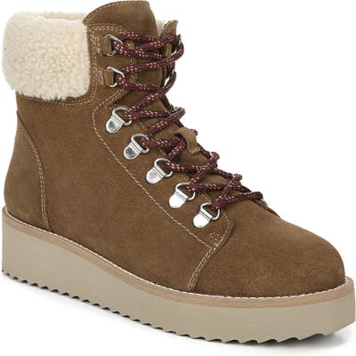 Sam Edelman Franc Hiking Boot With Faux Shearling Trim