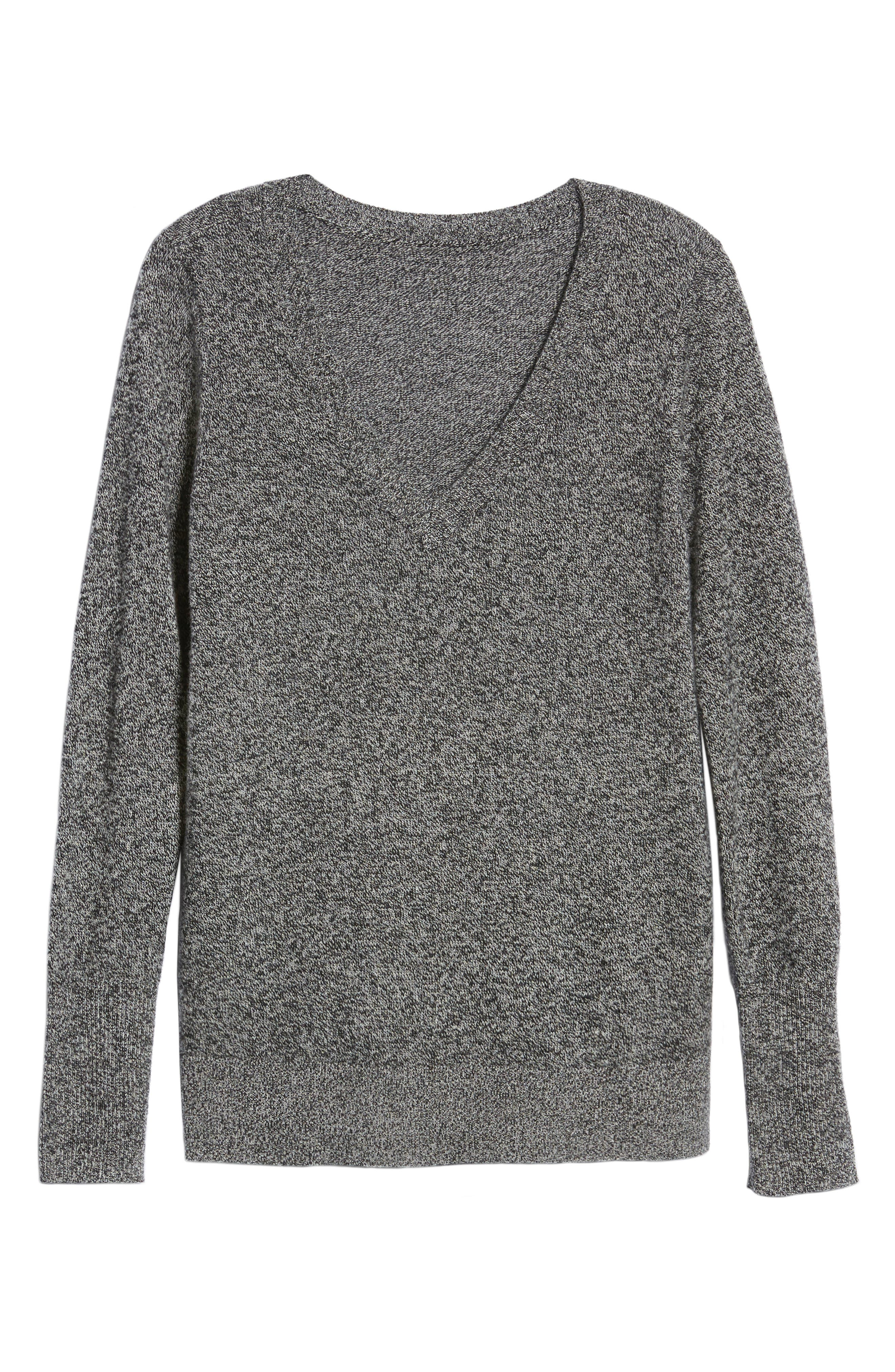 ,                             V-Neck Cashmere Sweater,                             Alternate thumbnail 18, color,                             004