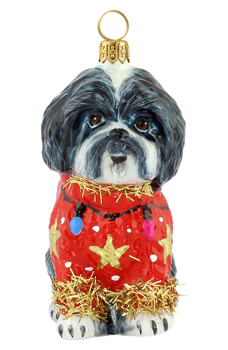 JOY TO THE WORLD COLLECTIBLES Ugly Christmas Sweater Dog Ornament, Main, color, 001