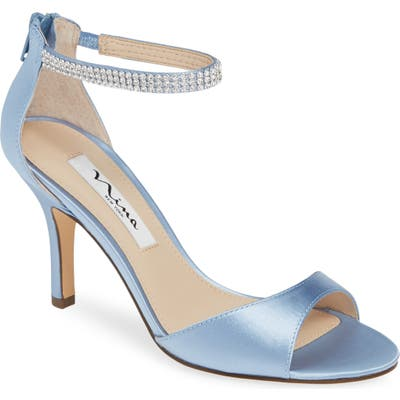 Nina Volanda Ankle Strap Sandal, Blue