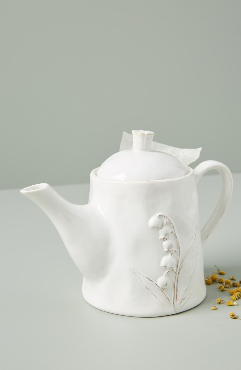 ANTHROPOLOGIE HOME Anthropologie Katerina Teapot, Main, color, 100