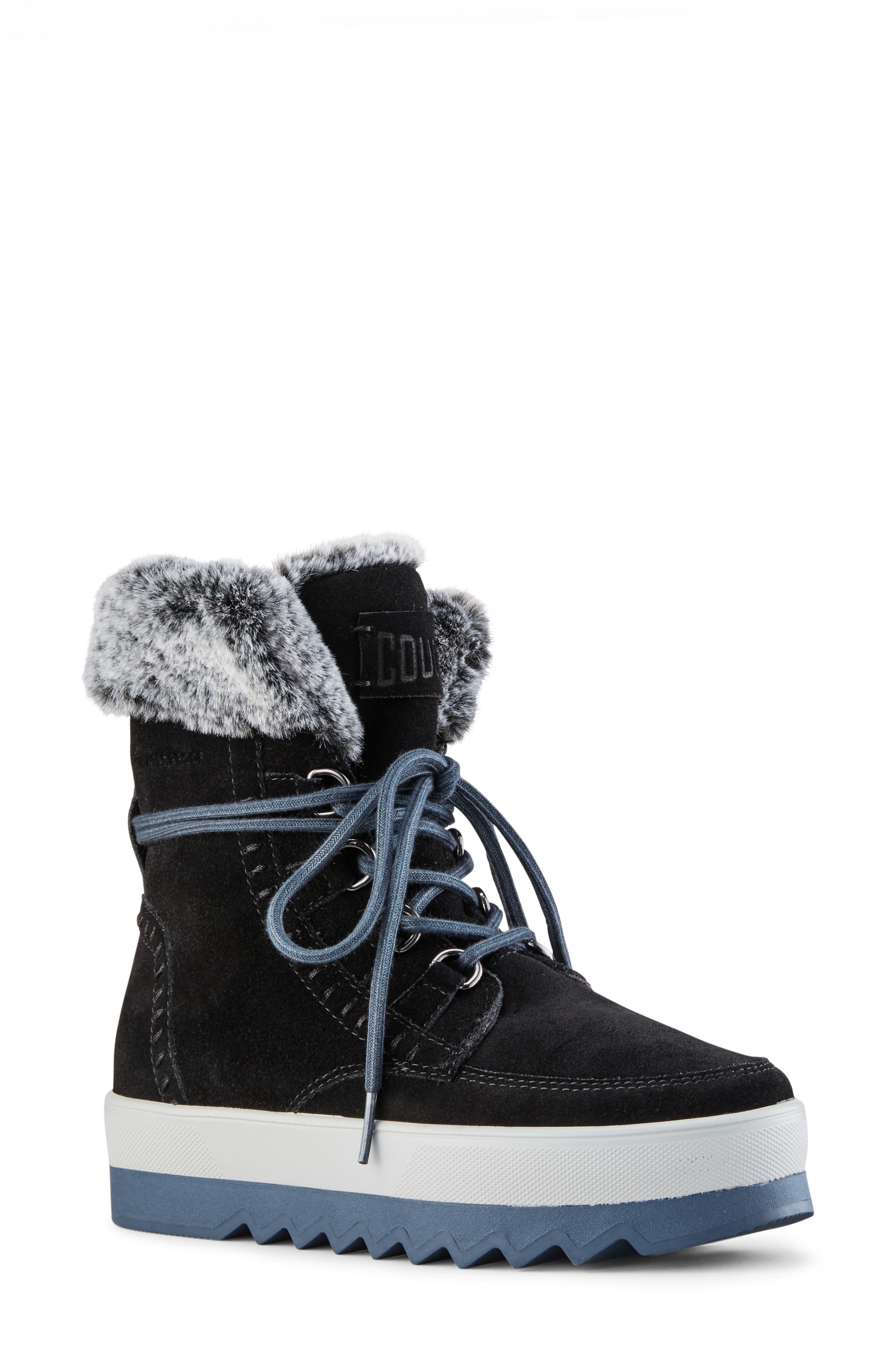Vanetta Faux Fur Trim Waterproof Boot