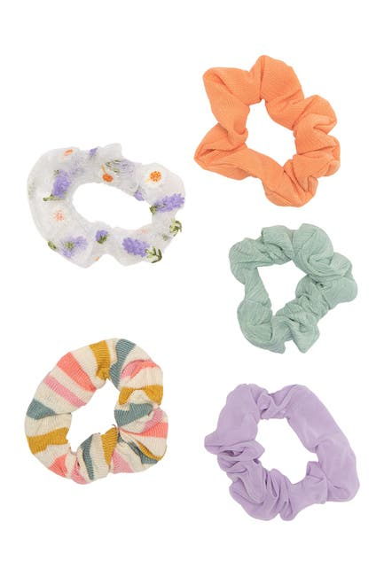 Image of BP. Mesh Stripe Hair Scrunchie - Pack of 5