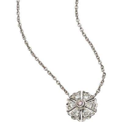 Sethi Couture Flower Diamonds Pendant Necklace