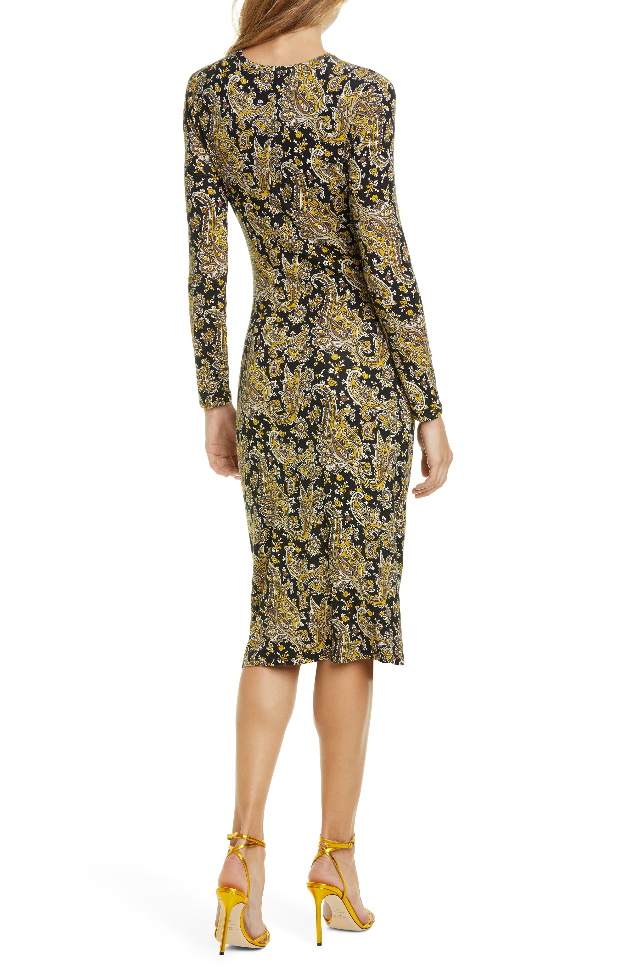 Joie Dresses Aja Long Sleeve Paisley Dress