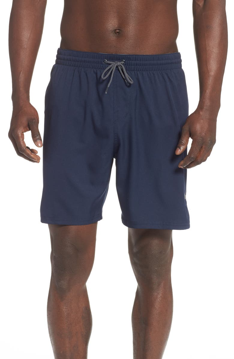 NIKE Solid Vital Volley Shorts, Main, color, OBSIDIAN