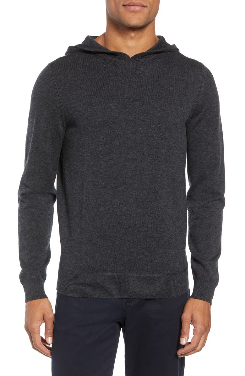 BOSS Efabio Wool Blend Hoodie, Main, color, 061