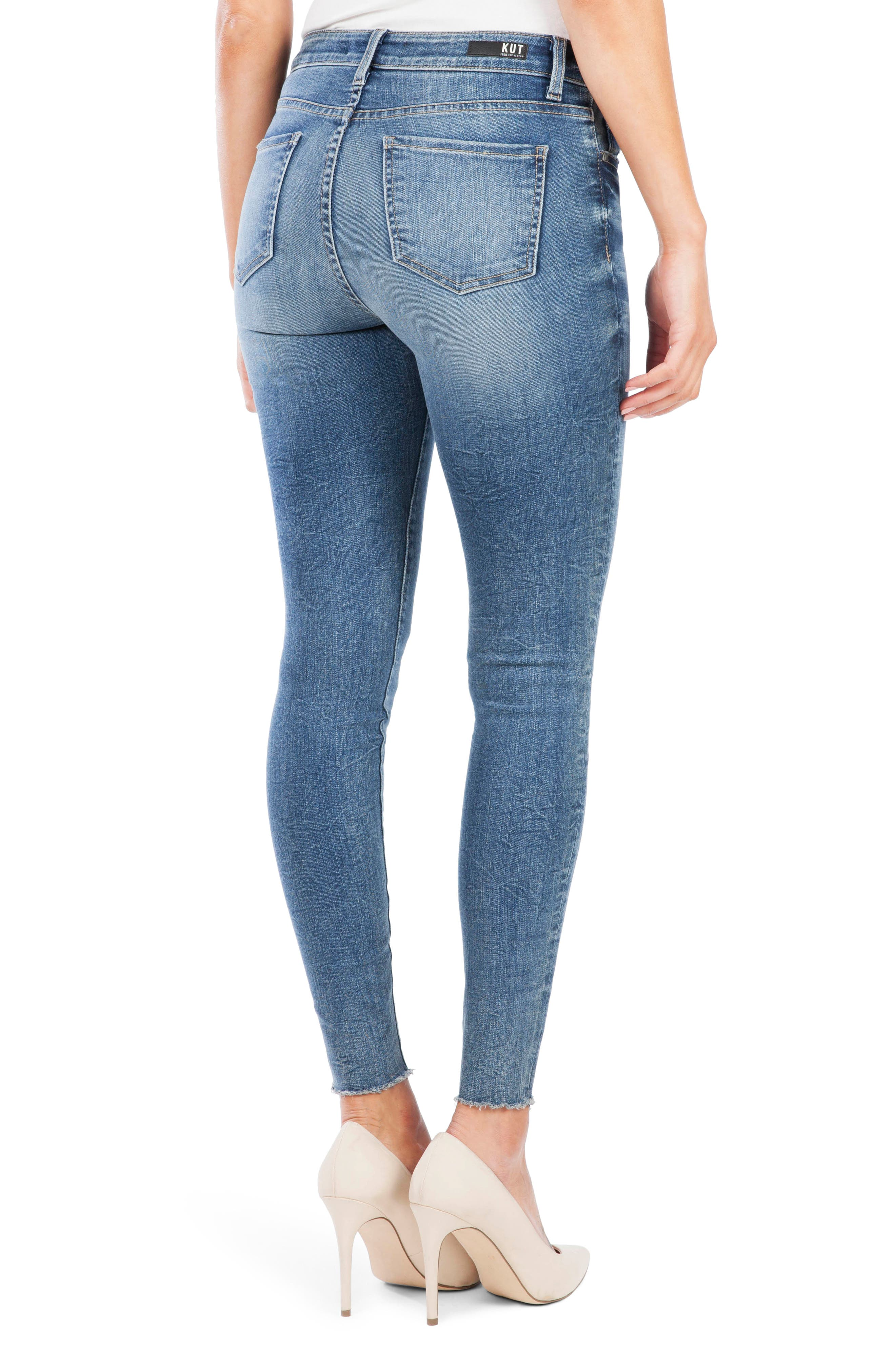 ,                             Donna Button Fly Skinny Jeans,                             Alternate thumbnail 2, color,                             DEMAND