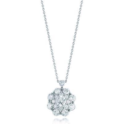 Kwiat Diamond Cluster Pendant Necklace