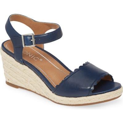Vionic Stephany Wedge Sandal, Blue