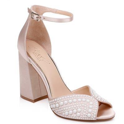 Jewel Badgley Mischka Serenity Ankle Strap Sandal, Ivory