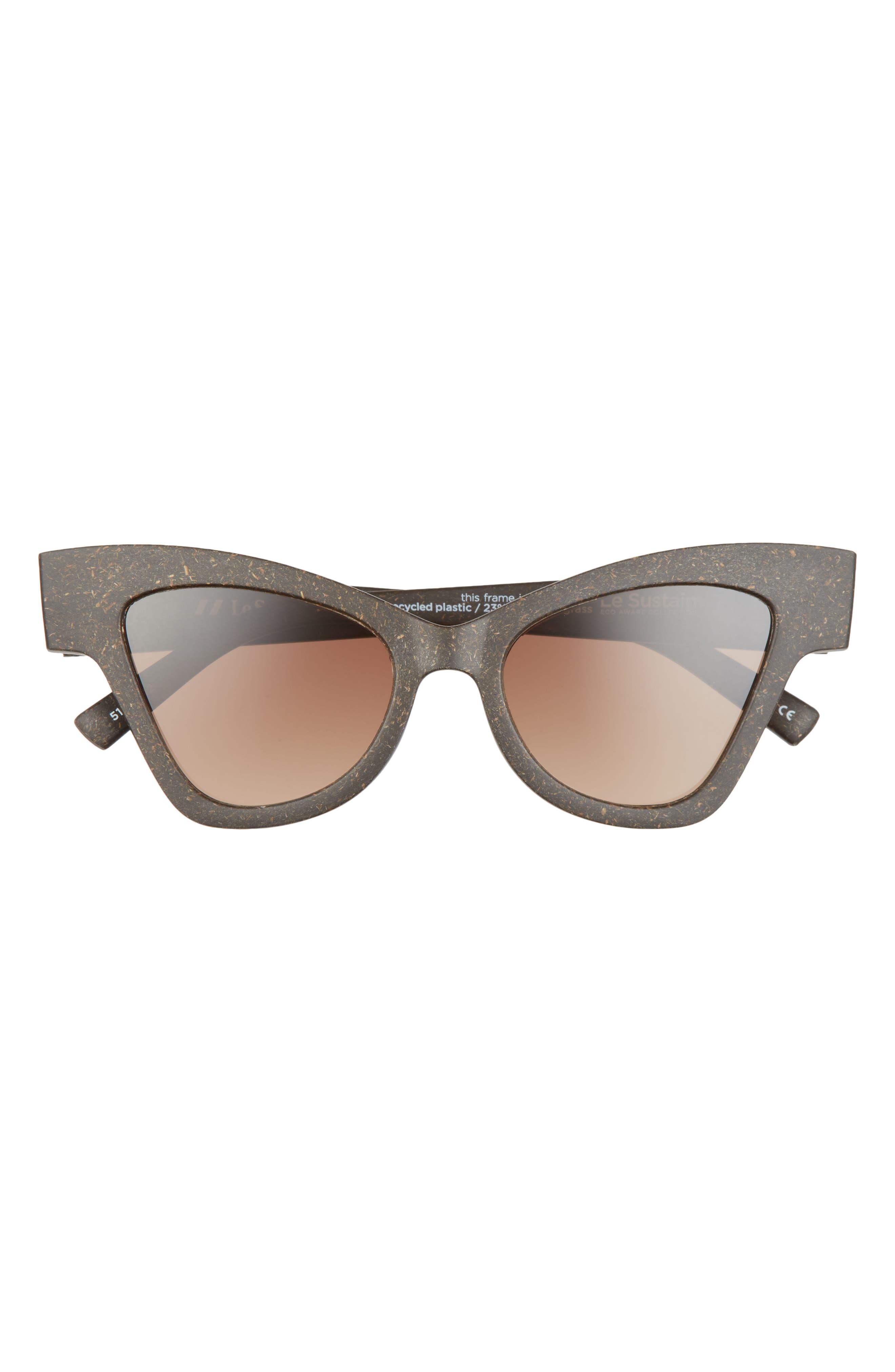 Hourglass 51mm Polarized Cat Eye Sunglasses