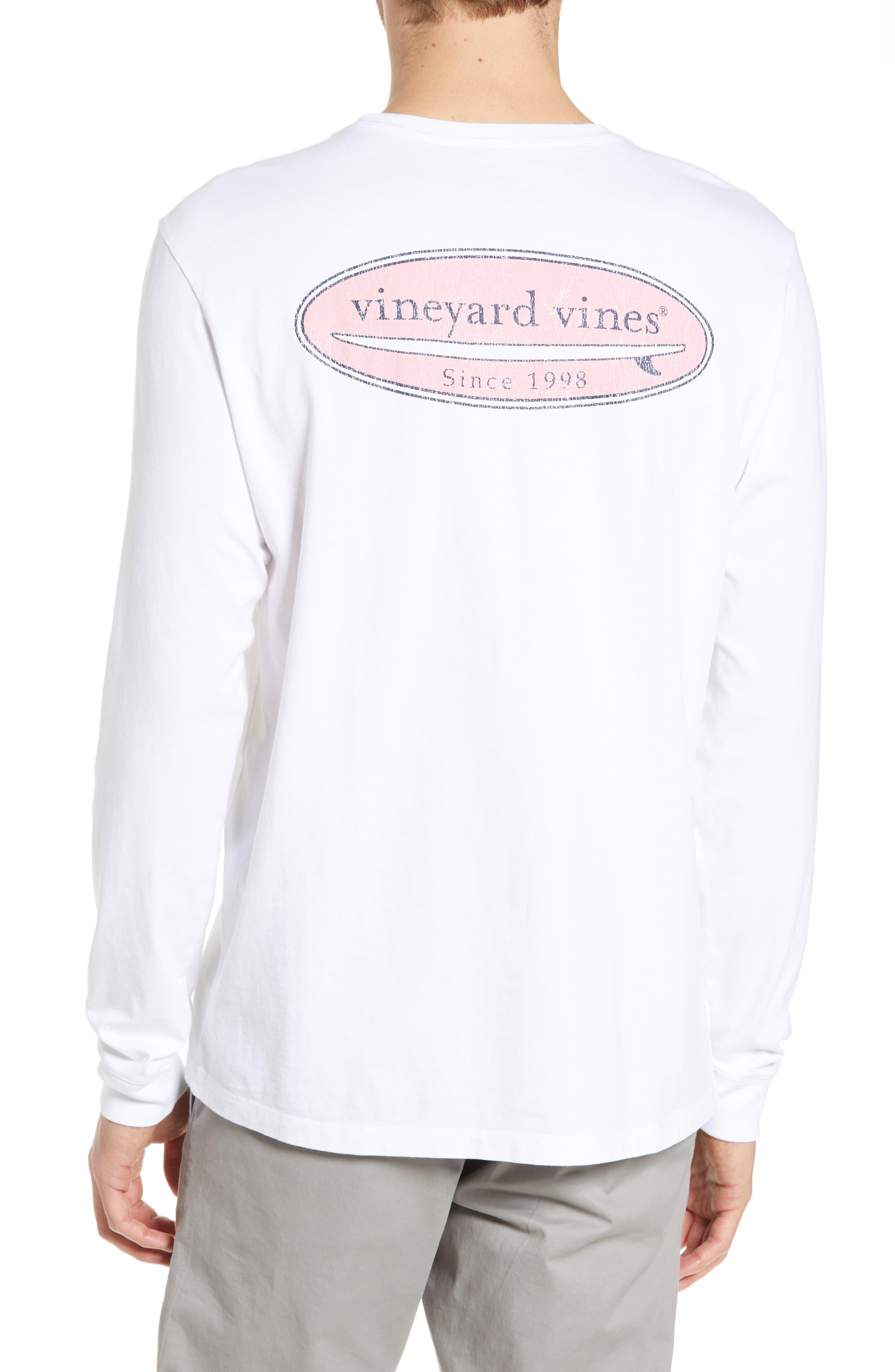 ,                             Surf Logo Long Sleeve Pocket T-Shirt,                             Alternate thumbnail 2, color,                             WHITE CAP