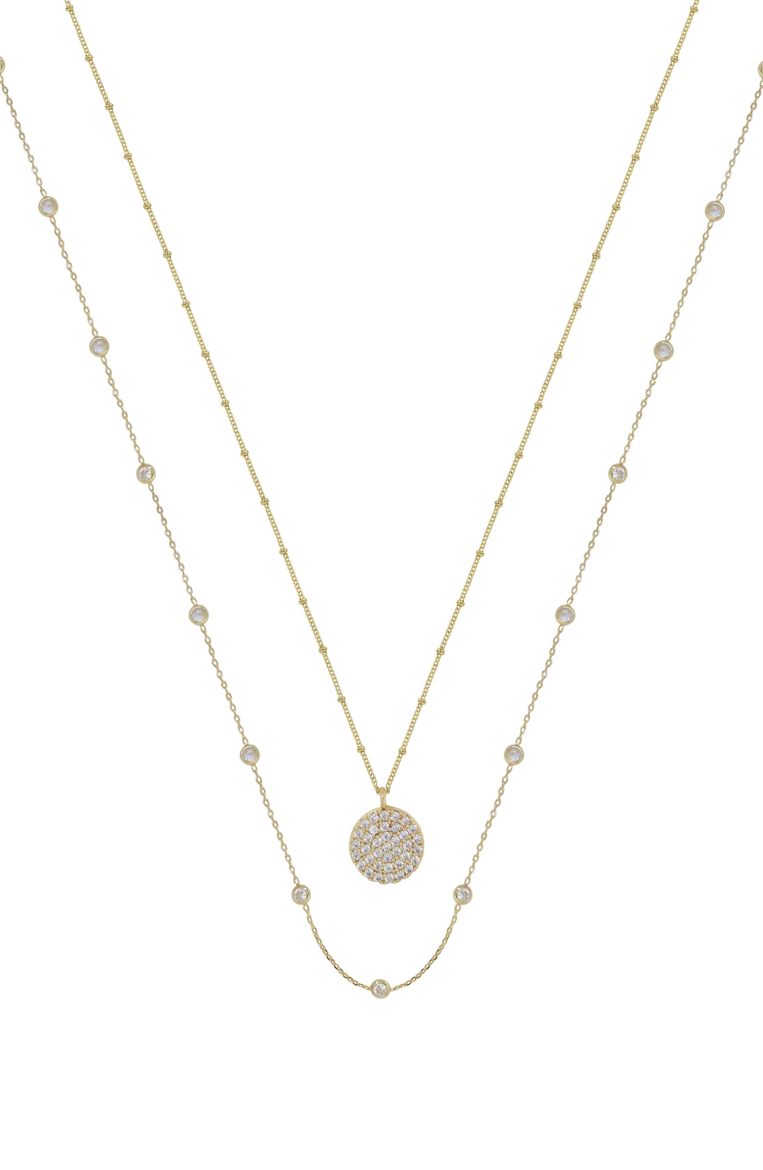 Set Of 2 Cubic Zirconia Necklaces
