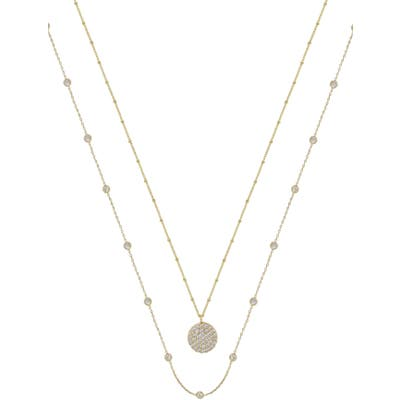 Ettika Set Of 2 Cubic Zirconia Necklaces