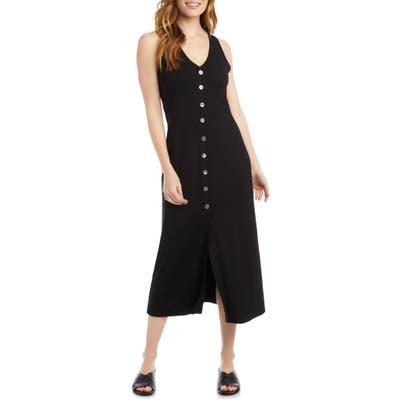 Karen Kane Alana Button-Up Midi Dress, Black