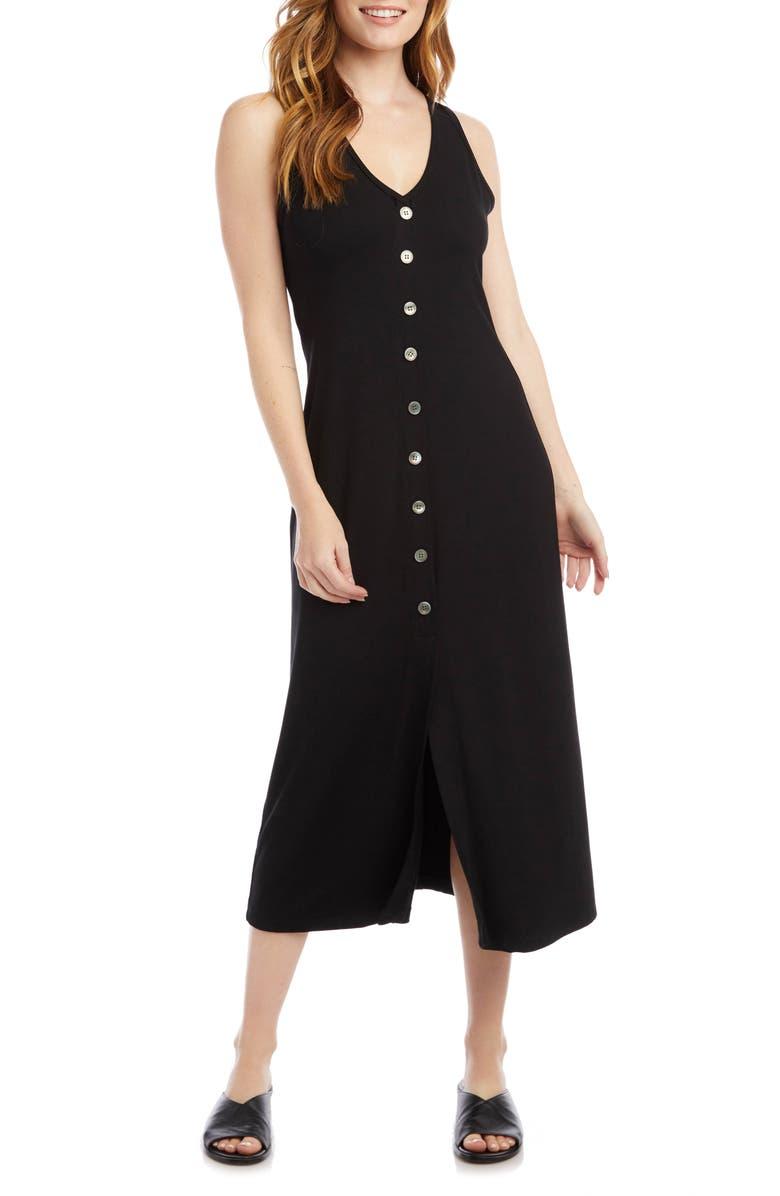 KAREN KANE Alana Button-Up Midi Dress, Main, color, 001