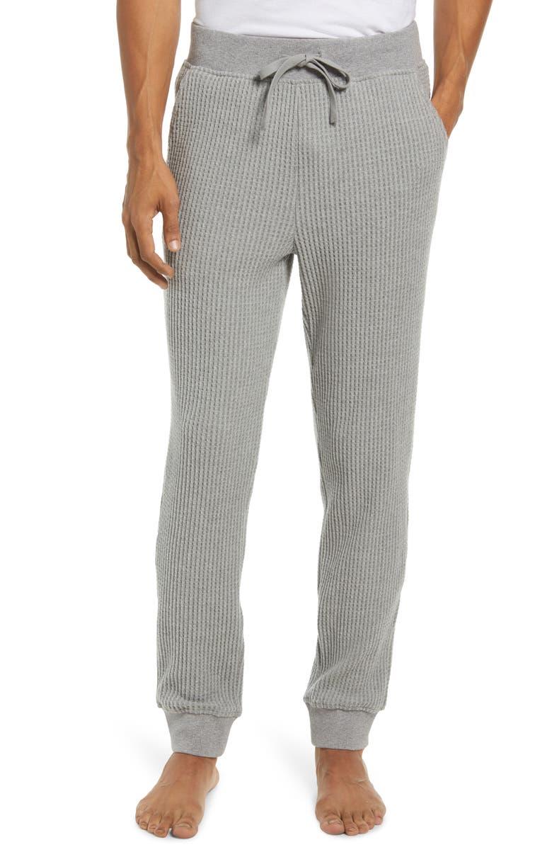 UGG<SUP>®</SUP> Glover Thermal Knit Pajama Pants, Main, color, GREY HEATHER