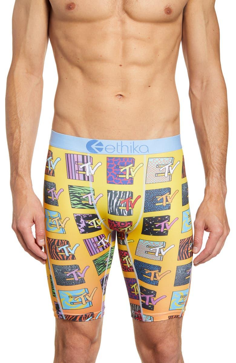 ETHIKA E-TV Boxer Briefs, Main, color, ORANGE MULTI