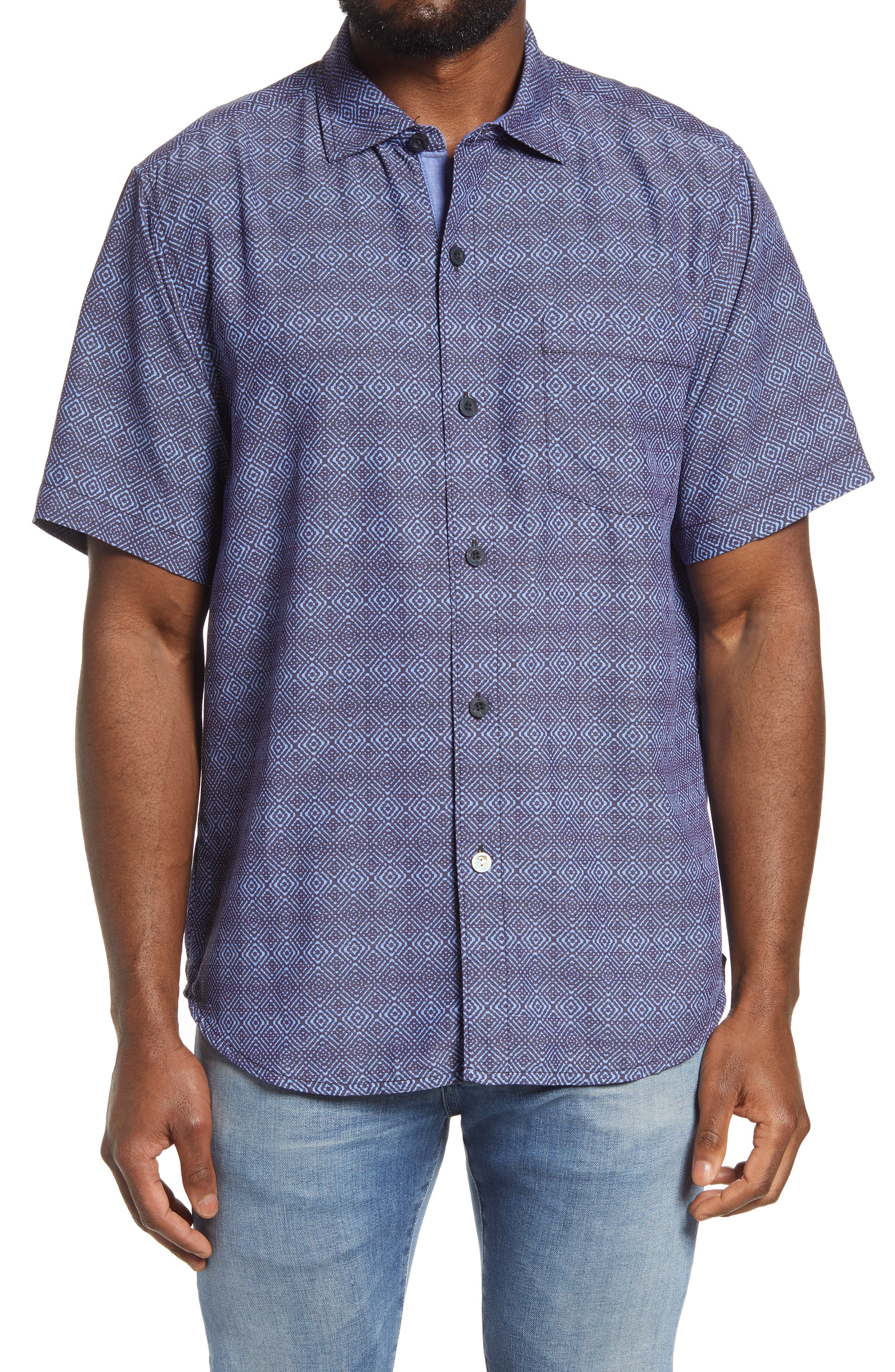 Men's Big & Tall Tommy Bahama Coconut Point Short Sleeve Button-Up Shirt