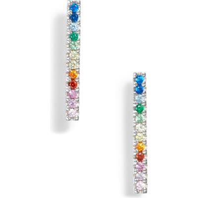 Stella And Bow Cubic Zirconia Linear Drop Earrings
