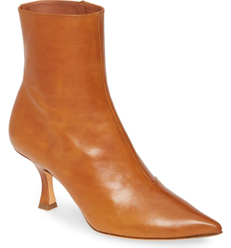 Y/PROJECT Calfskin Leather Ankle Boot, Main, color, TAN