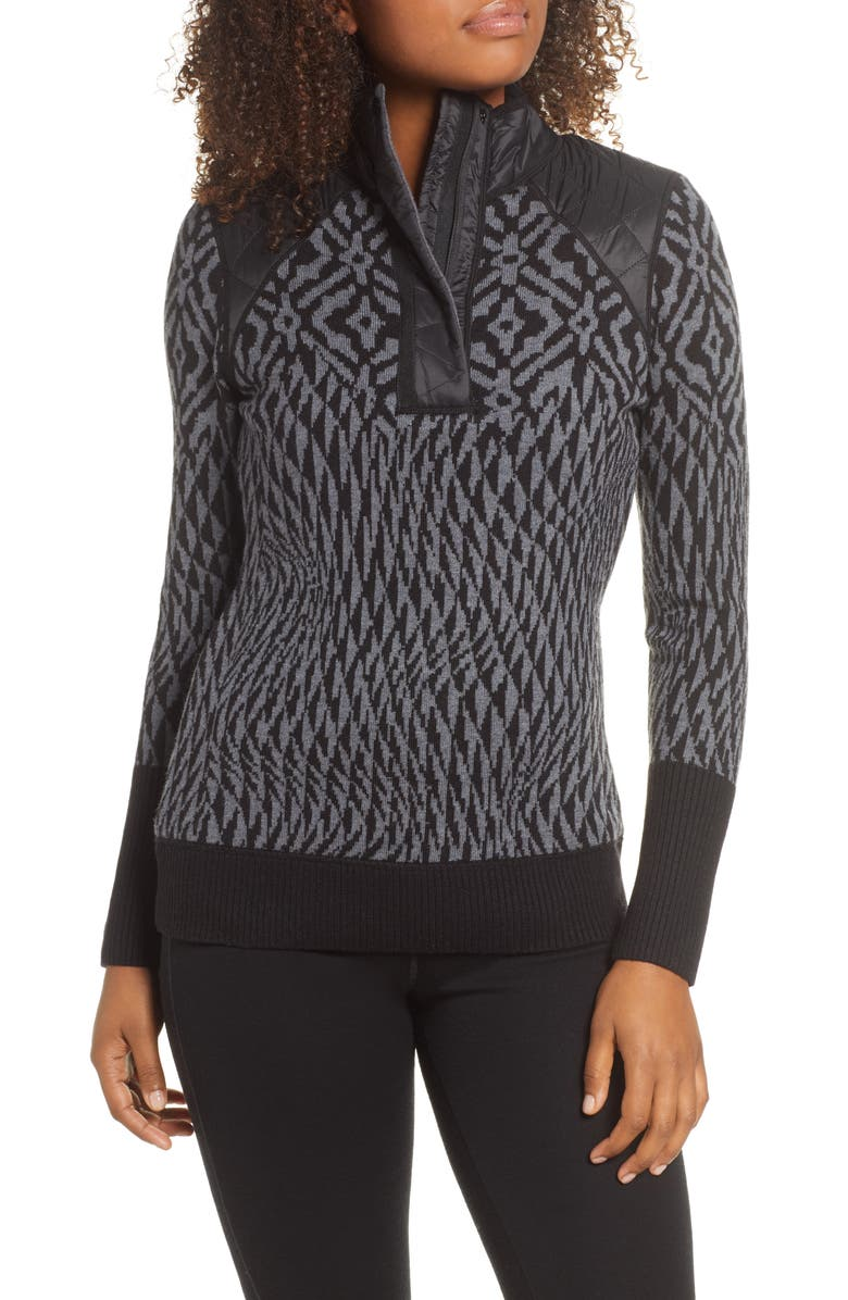 SMARTWOOL Ski Ninja Pullover Sweater, Main, color, 001