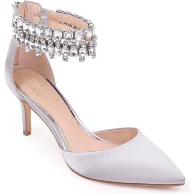 Jewel Badgley Mischka Damonica Crystal Embellished Sandal- Metallic