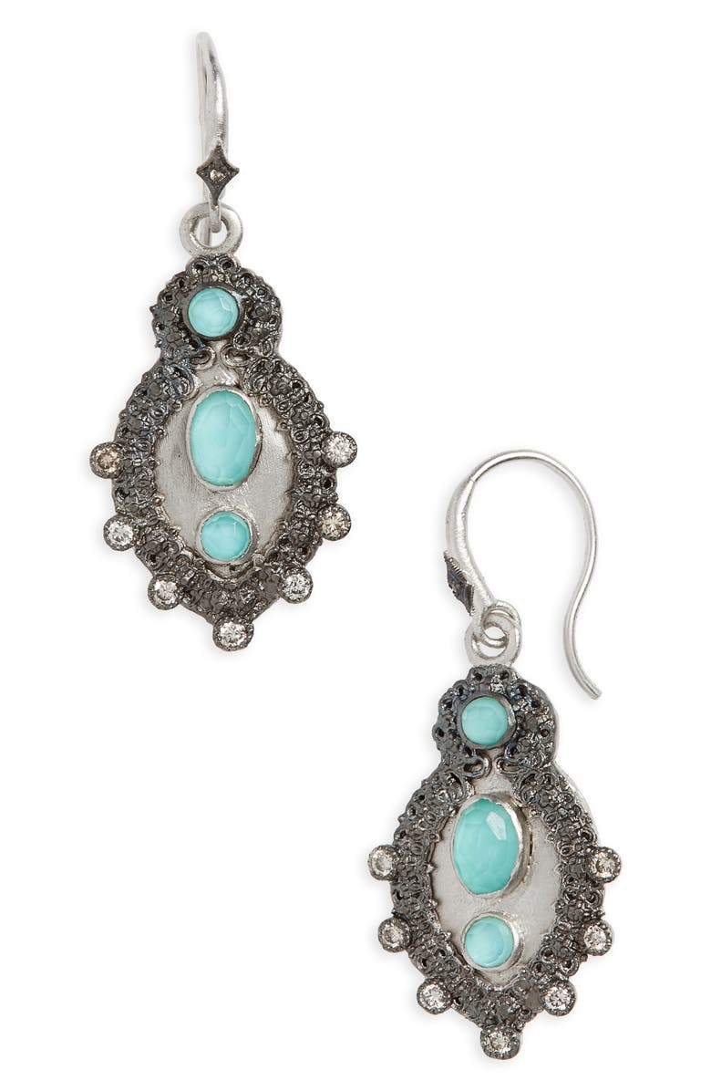 ARMENTA New World Turquoise Doublet Drop Earrings, Main, color, 439