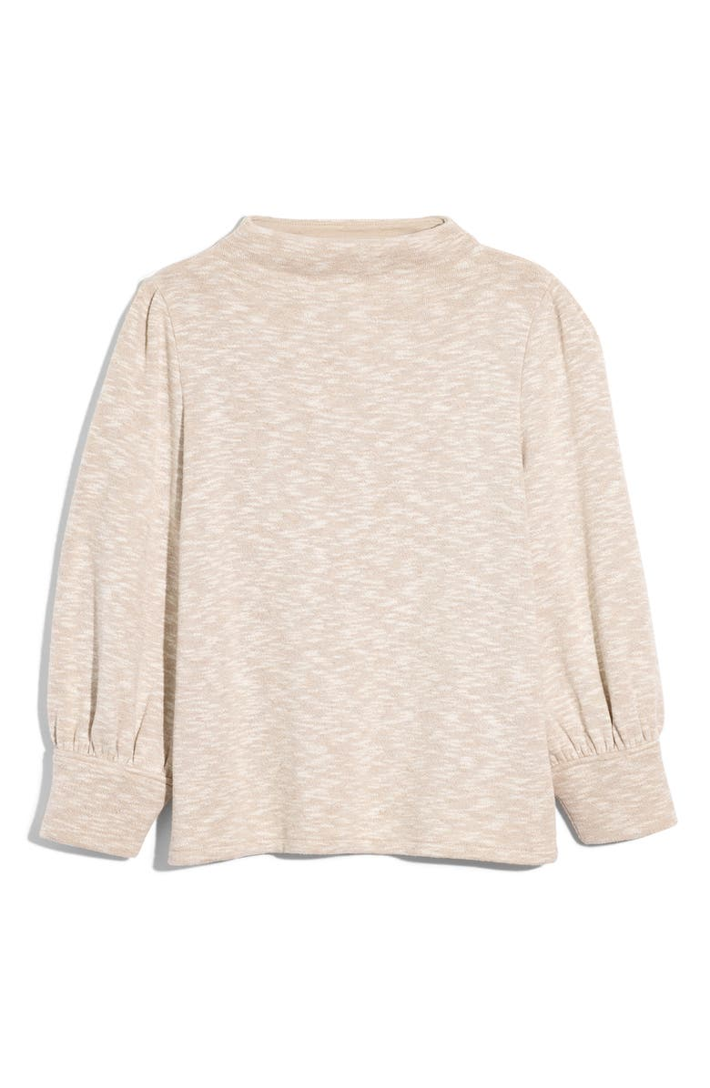 MADEWELL Gathered Sleeve Mock Neck Top, Main, color, 250