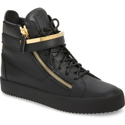 Giuseppe Zanotti Mid-Top Sneaker, Black